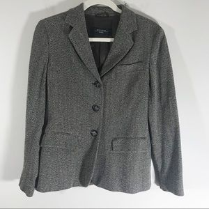 MaxMara Weekend brown tan wool tweed blazer size 4